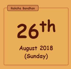 Raksha Bandhan 2018 Date Time In India  Rakhi Date In India