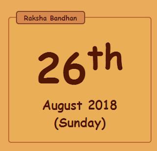 Rakhi 2018 date