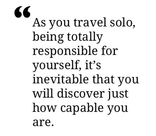 Quotes About Travelling solo